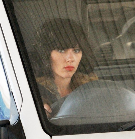 Scarlett Johansson films 'Under The Skin' in Glasgow